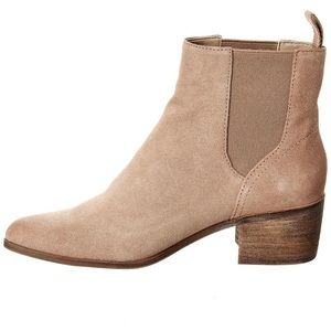 Dolce Vita Corie Suede Booties Almond